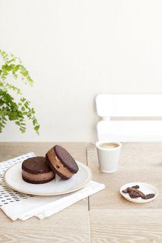 double chocolate ice cream sandwiches #vegan #recipe