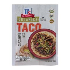 McCormick Organics Taco Seasoning Mix, 1.0 OZ