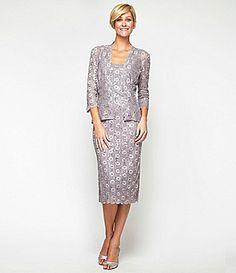 Alex Evenings Lace Jacket Dress #Dillards my favorite so far - wish it was chartreuse