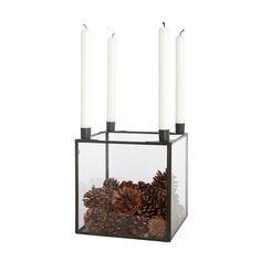Inreda.com - Ljusstake Square Glass Box Järn 20x20xH22 PM0310, House Doctor