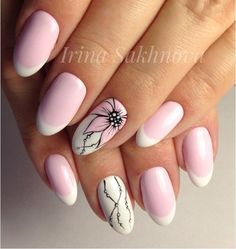 Nail art Christmas - the festive spirit on the nails. Over 70 creative ideas and tutorials - My Nails French Nails, Nagellack Trends, Different Nail Designs, Nails Only, Hot Nails, Stylish Nails, Nail Decorations, Fabulous Nails, Flower Nails