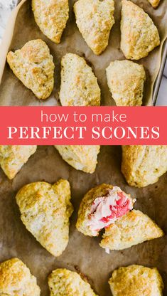 How to Make Perfect Scones better than your favorite coffee shop in just 35 minutes! Plus you can add in chocolate chips, blueb. Cherry Scones, Orange Scones, Lemon Scones, Strawberry Scones, Savory Scones, Buttermilk Scone Recipe, Blueberry Scones Recipe, Homemade Scones, Homemade Recipe