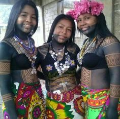 Beutiful girls from Panama Native American Beauty, Native American Indians, African Tribes, African Women, Indigenous Tribes, Pool Party Outfits, Tribal People, Tribal Women, Native Indian