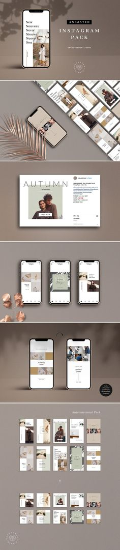 LICENSE CHANGES: Please note that if you intend to use the templates for your Business (no matter how big or small) you will need the Commercial License. Instagram Design, Free Instagram, Instagram Images, Web Design, Layout Design, Logo Design, Portfolio Design, Animation, Layout Template