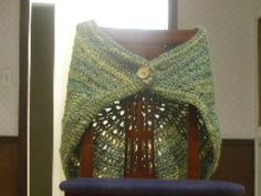 Shawlette from Homespun Shawls by Lion Brand Yarn