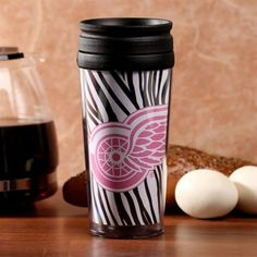 Detroit Red Wings 16oz. Zebra Acrylic Tumbler with Lid