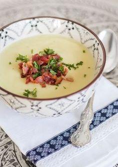 Potatissoppa med parmesan och baconströssel