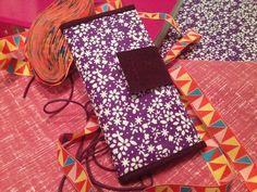 Purple Flower Handmade Fabric Wallet £15.45