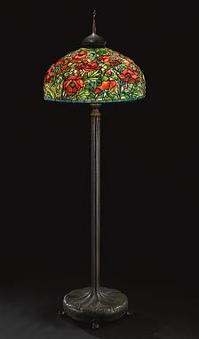 The 26 oriental poppy tiffany floor lamp red by dr grotepass the 26 oriental poppy tiffany floor lamp red by dr grotepass studios oriental poppy lamp pinterest oriental tiffany and floor lamp aloadofball Gallery