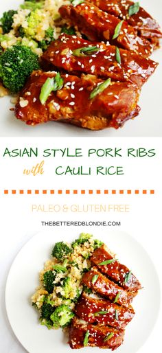 Asian Style Pork Ribs with Cauli Rice - Paleo, Gluten Free - The Bettered Blondie #paleo #glutenfree