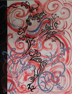 Chemin de vie Avatar, Glass, Painting, Abstract Backgrounds, Toile, Paint, Painted Canvas, Drinkware, Corning Glass