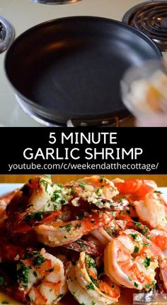 Sauted Shrimp Recipes, Lemon Garlic Shrimp, Prawn Recipes, Shrimp Recipes Easy, Easy Delicious Recipes, Easy Healthy Dinners, Seafood Recipes, Healthy Dinner Recipes, Asian Recipes