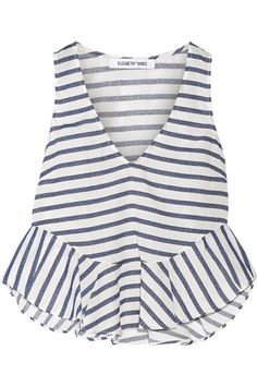 Elizabeth and James - Chester striped poplin and slub twill top Summer Outfits, Cute Outfits, Kids Fashion, Fashion Outfits, Elizabeth And James, Diy Clothes, Spring Summer Fashion, Fashion Looks, Street Style