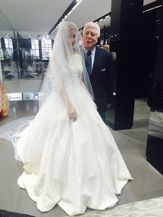 Designing My Wedding Dress with Dennis Basso - The Sterling Standard - Sterling McDavid and Dennis Basso wedding dress in progress - here the dress is seen in muslin cloth as a sample
