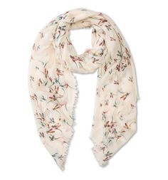 Bird print beige scarf by C&A