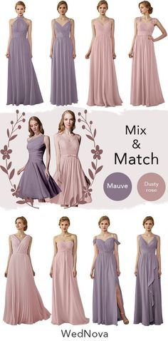 b8980512e9 2019 color trends bridesmaid dress mauve bridesmaid dress nixed and match  dusty rose bridesmaid dress affordable