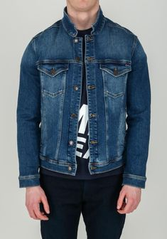 Tommy Hilfiger Men's Classic Trucker Denim Jacket, Blue Get The Look, Blue Denim, Tommy Hilfiger, Classic, Jackets, Men, Outfits, Shopping, Fashion