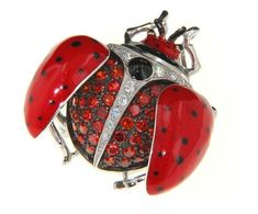 Jewelry in bug design can be made in different types but there are some designers who may specialize in just one particular type only, like the ladybug.