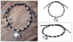 Silver accent charm bracelet - Hill Tribe Rabbit - NOVICA