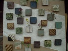 Square wall vases