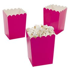 Hot Pink Popcorn Boxes