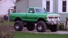 Green lifted FORD tduck 1970's