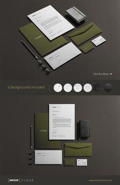 Corporate Stationery Mock-Up by Mockup Cloud on Creative Market: http://crtv.mk/t08fR