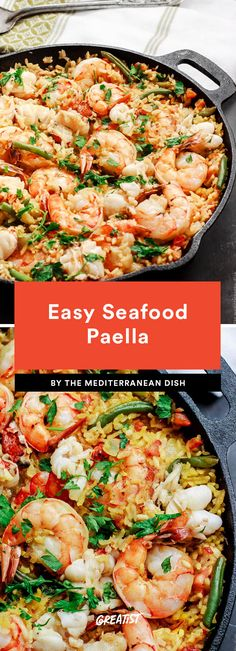 9 Spanish Recipes to Make When You Want to Be Eating Tapas in Barcelona Easy Seafood Paella Seafood Casserole Recipes, Tapas Recipes, Seafood Recipes, Cooking Recipes, Spanish Recipes, Easy Seafood Paella Recipe, Baked Paella Recipe, Shrimp Casserole, Gourmet