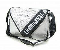 TribalBaby Schoudertas The original bag newspaper silver
