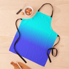 """Neon Blue and Bright Neon Aqua Ombré Shade Color Fade"" Apron by podartist   Redbubble Magenta, Turquoise And Purple, Purple Ombre, Aqua Blue, Light Purple, Mint Green, Blue Grey, Lilac, Custom Aprons"