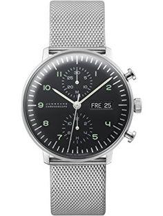 Junghans Max Bill Chronoscope Watch 027/4500.44 ❤ Junghans