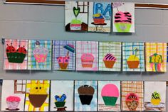 ... they baked and decorated them (cross-curricular Cupcake Wars activity