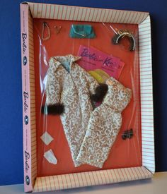 "VINTAGE Barbie Clothes from 1958 - NRFB - MATTEL #961 ""Evening Splendour"" RARE #ClothingShoes"