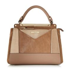 DUNE ACCESSORIES DRAYSON - Patchwork Top Handle Bag - taupe | Dune Shoes Online