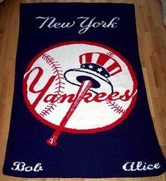 New York Yankees Afghan pattern by Deborah V. Gardner