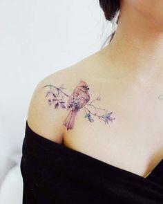 Bird Tattoos for Women Red Cardinal Tattoos, Red Bird Tattoos, Small Bird Tattoos, Form Tattoo, Shape Tattoo, Cardnial Tattoo, Wrist Tattoo, Oma Tattoos, Body Art Tattoos