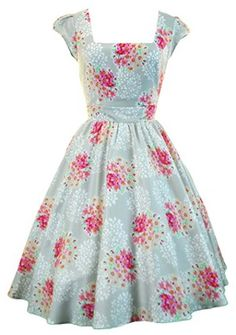 1950s style summer dress