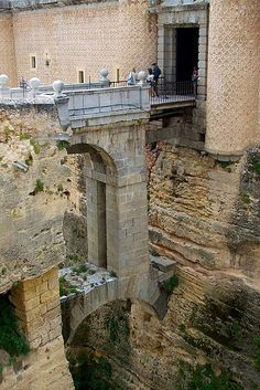 Moat of Fortified Castle ~ Toledo, Spain . http://photosearth.com/Spain.html