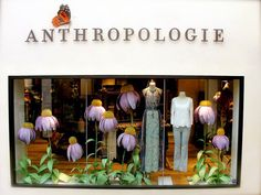 #Omaha #Anthropologie aww craft paper flowers so cute! Love these floral window displays be perfect dessert table backdrop or other party/ event / celebration backdrop.