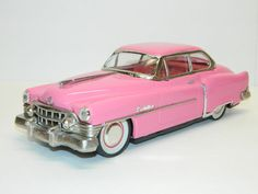 1950 Pink Cadillac Tin Toy Vintage Friction Toys