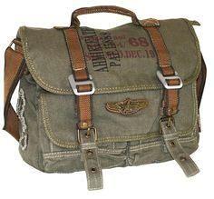Military Vintage Can     Military Vintage Canvas Over The Shoulder Messenger Bag - Larger  #serbags   #vintagebag