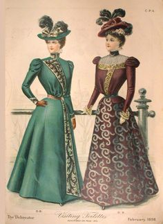 Delineator 1898-02 Fashions http://www.magazineart.org/magazines/d/delineatorfashionpages/Delineator1898-02Fashions1.html