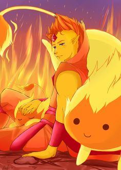 DeviantArt: More Artists Like Adventure Time- Flame Prince by SendMeLetters Time Cartoon, Cartoon Games, Cartoon Art, Adventure Time Anime, Marceline, Prince Gumball, Land Of Ooo, Flame Princess, Vampire Queen