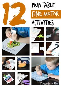 12 creative ways to build fine motor strength and hand-eye coordination. {Playdough to Plato}