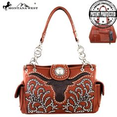 Montana West Bling Longhorn Collection Concealed Handbag – Handbag-Addict.com