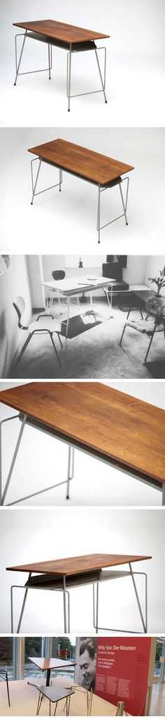 A rare Willy Van Der Meeren writing desk 1950s.  Highly collectible item!