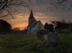 Church at Sunset Kent UK