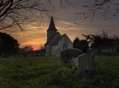 Church at Sunset Kent UK