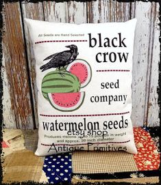 Nothing says summer like a bright red and green watermelon! Watermelons are so juicy and yummy and are the perfect posterfruit . Watermelon Patch, Watermelon Decor, Green Watermelon, Barn Wood Signs, Small Pillows, Bunting Banner, How To Make Pillows, Baskets On Wall, Happy Shopping