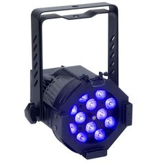 Elation Opti 30 UV - 20W, 12 x 1W UV LED DMX Die Cast Par 30 Fixture. • 12 x 1-Watt UV LEDs • Peak wavelength 390~410 nm • Sturdy, high-impact aluminumn constr – Lighting and Production Resources is your one stop for all of your stage lighting, LED retrofitting & system installation needs. (407)967-7716